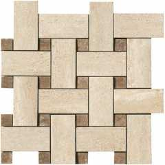 Travertino mosaico intr beige capri-trav-32 Мозаика